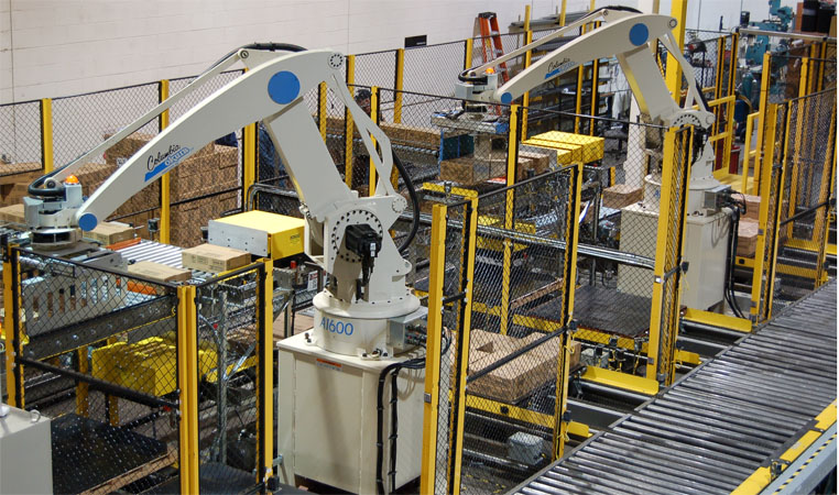 Image result for Would you go for conventional or robotic palletizers?