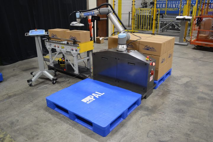 miniPAL® collaborative robot, cobot, in a manufacturing facility